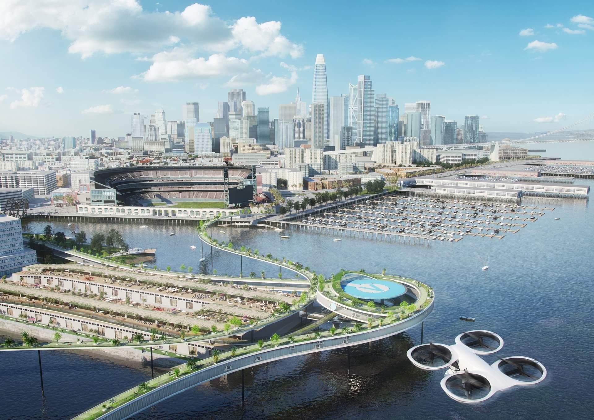 Így fog kinézni a jövő városa, ahol mindenki repülő autóval közlekedik -  Rakéta
